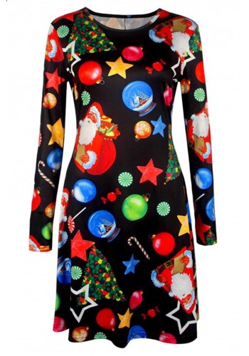 X-Mas Multiprints Swing Dress
