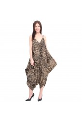 Baggy Harem Jumpsuit Playsuit Leopard