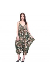 Baggy Harem Jumpsuit Playsuit Army