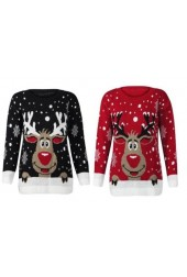 Red Nose Rudolph On Wall Jumper