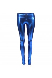 Disco Shine Pant  Royal Blue Skinny Leg Trouser